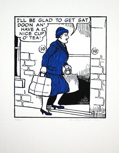 John Patrick Reynolds_Comic Art_Ma Broon wants a cup of tea