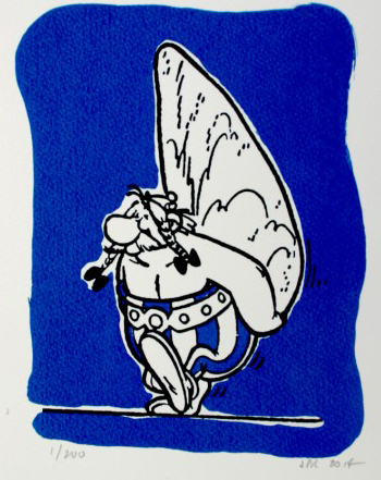 John Patrick Reynolds_Comic Art_Obelix Carrying a Menhir
