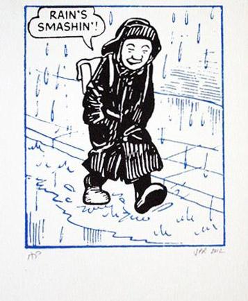John Patrick Reynolds_Comic Art_Oor-Wullie-I-Love-Rain-200x200