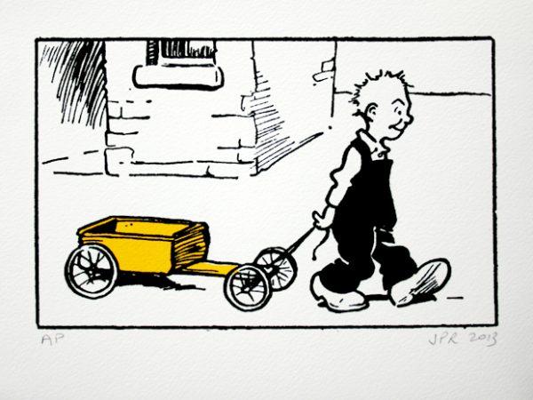 John Patrick Reynolds_Comic Art_Oor Wullie and his kartie