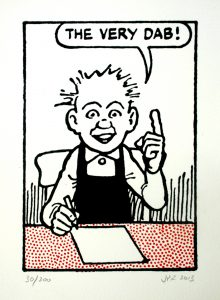 John Patrick Reynolds_Comic Art_Our Wullie says The very dab!