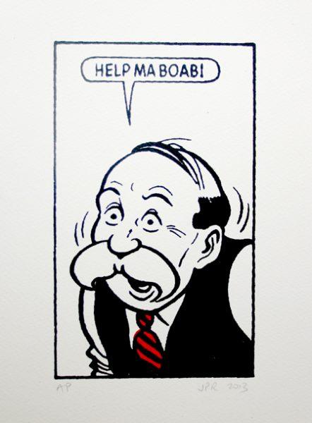 John Patrick Reynolds_Comic Art_Paw Broon says Help ma boab!