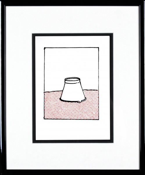 John Patrick Reynolds_Oor Wullie's Bucket_15x13_Framed