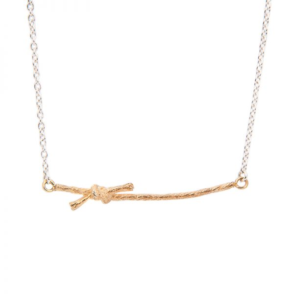 KNOTTED-NECKLACE-STN02-18ct-yellow-gold-vermeil