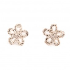 Lace Daisy Studs - Sterling Silver