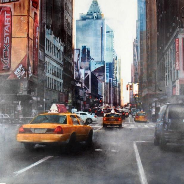 Talantbek Chekirov_NYC Down Town I_Acrylics_39x39