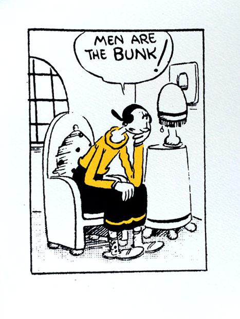 John Patrick Reynolds_Comic Art_Olive Says Men Are the Bunk