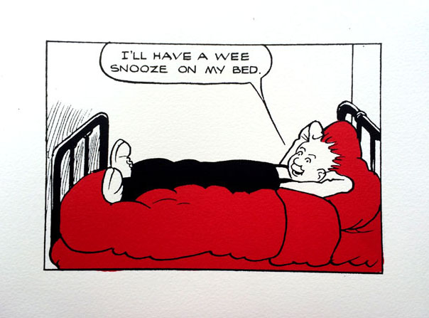 John Patrick Reynolds_Comic Art_Oor Wullie Has A Snooze