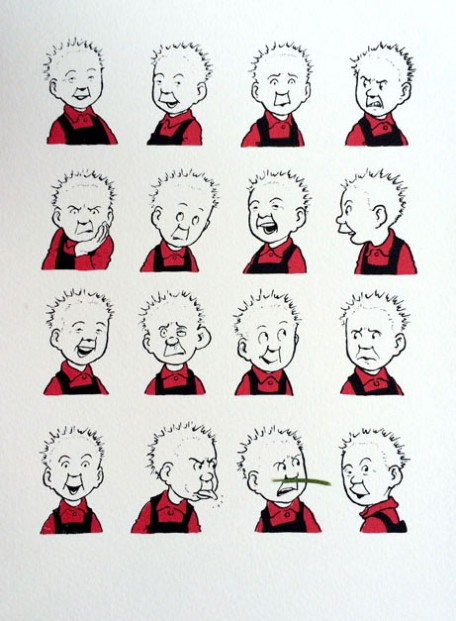 John Patrick Reynolds_Comic Art_Oor Wullie Pulls Faces