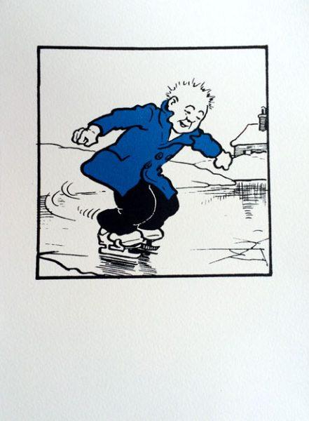 John Patrick Reynolds_Comic Art_Oor Wullie Skates