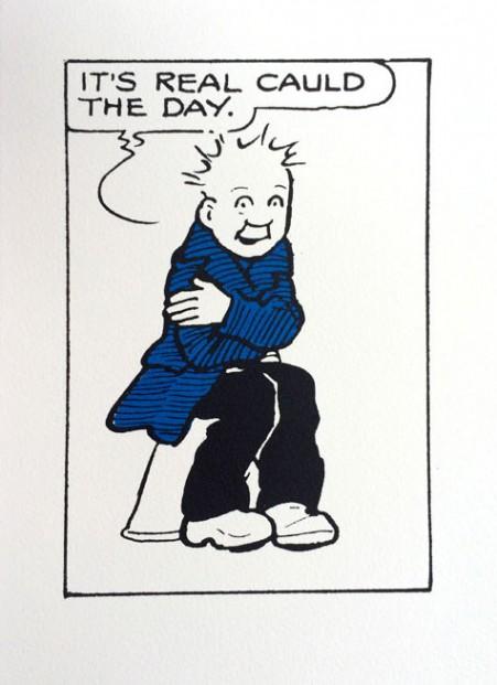 John Patrick Reynolds_Comic Art_Oor Wullie is Cold