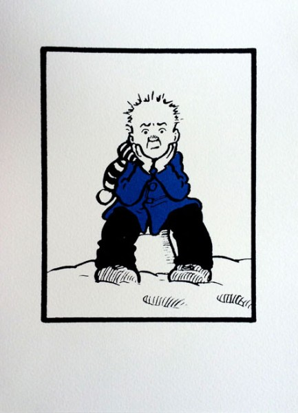 John Patrick Reynolds_Comic Art_Oor Wullie on Snowy Bucket
