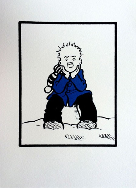 John Patrick Reynolds_Comic Art_Oor Wullie on Snowy Bucket