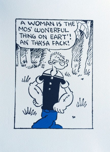 John Patrick Reynolds_Comic Art_Popeye Says A Woman Is The Mos Wonerful Thing