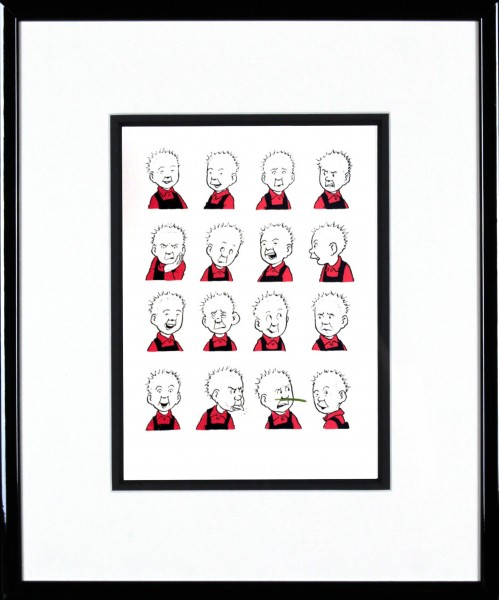 John Patrick Reynolds_Oor Wullie Pulls Faces_15x13_Framed