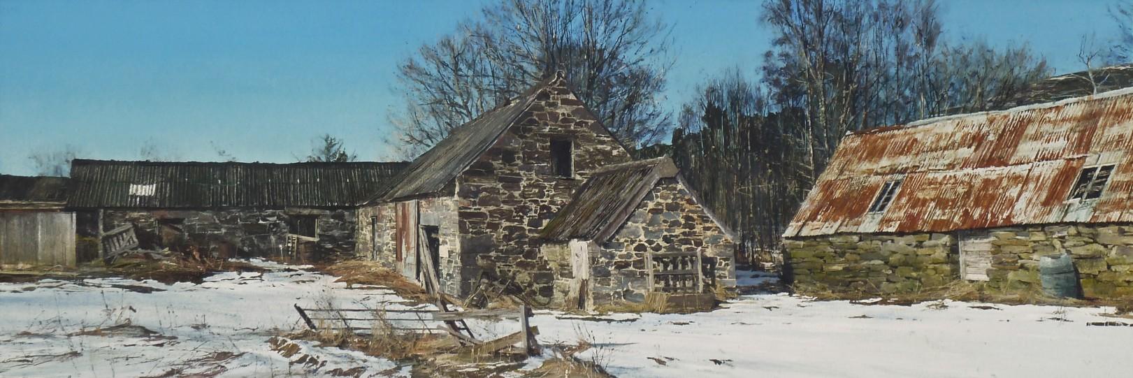 John Bell_Blacklunans, Glen Shee_Acrylic_12x36