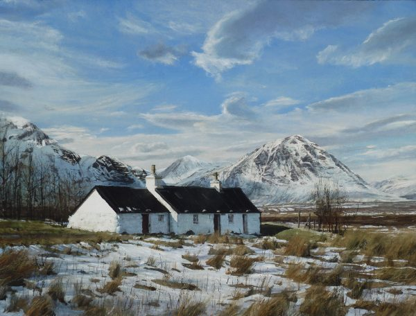 John Bell_Blackrock Cottage, Glen Coe_Acrylic_18x24