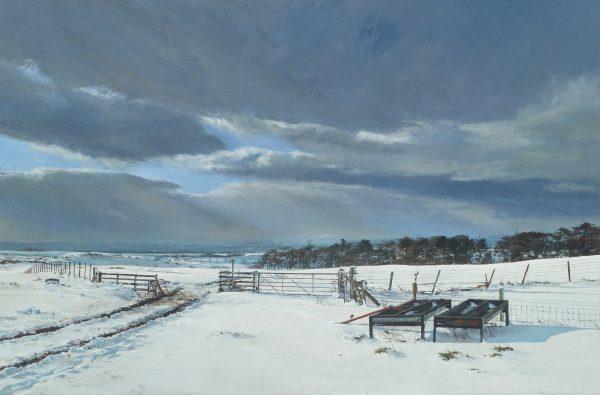John Bell_Cattle Troughs, Shanry, nr Rait_Acrylic_24x36