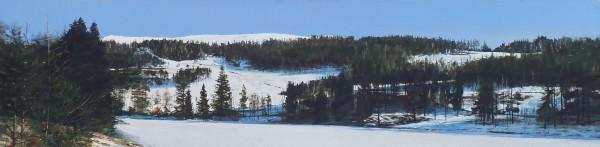 John Bell_Drumore Loch, Glen Shee_Acrylic_11.5x48