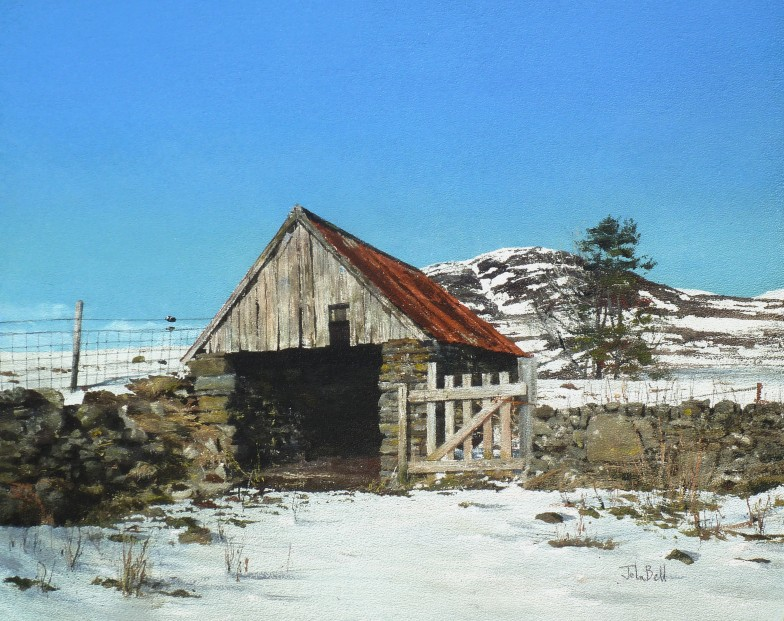 John Bell_Finegand Barn, Glen Shee_Acrylic_18x24