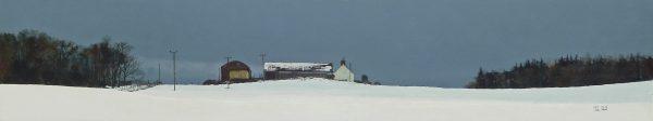 John Bell_Redcrieff Farm, Lundie_Acrylic_9x48