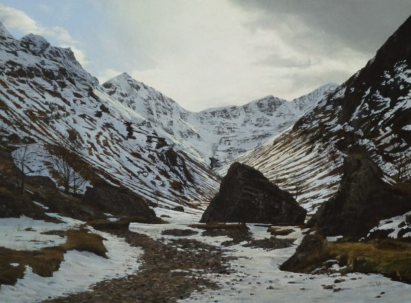 John Bell_The Hidden Valley, Glen Coe_Acrylic_18x24