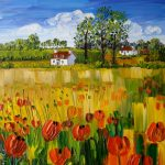 Sheila Fowler_Wild Poppies, Fife_Oils_16x16