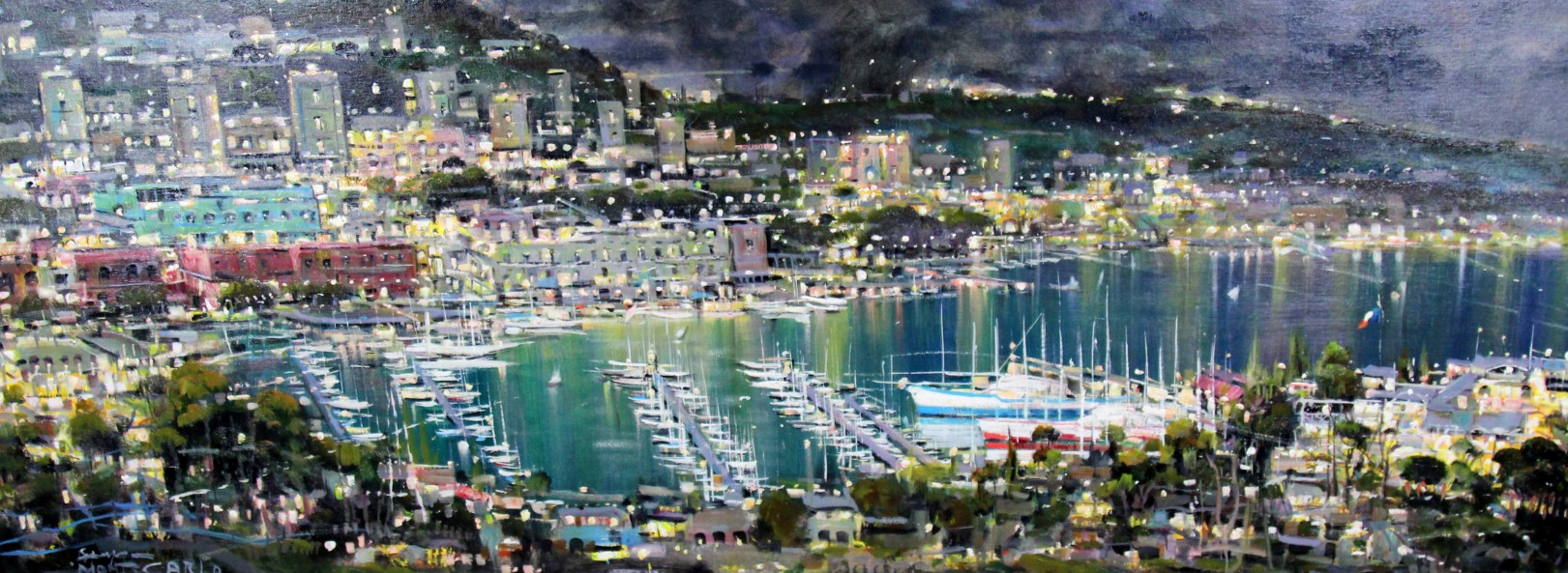Mario Sanzone_Evening, Monte Carlo_Oils_23x60 (2)