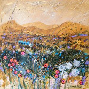 Deborah Phillips_Cairngorm Gold_Hand Embellished Signed Limited Edition_15x15