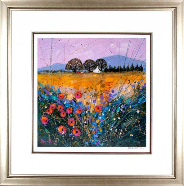 Deborah Phillips_Late Harvest Poppies_25x25_Framed Print
