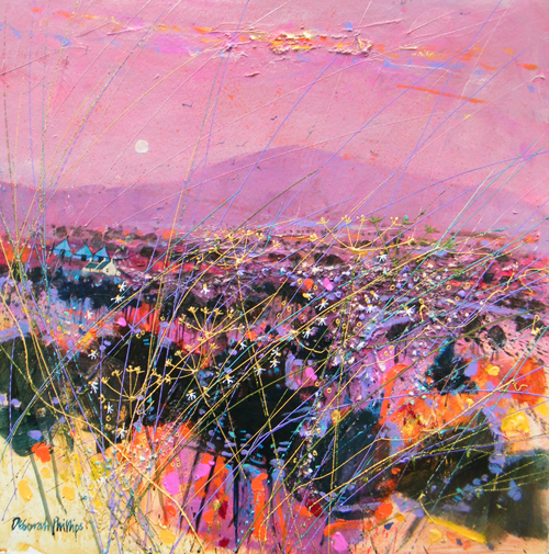 Deborah Phillips_Rosy Angus Moonrise_Hand Embellished Signed Limited Edition_5x5