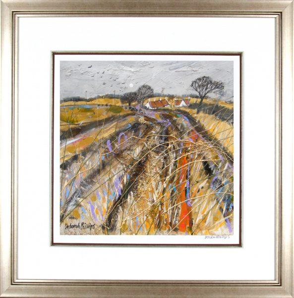 Deborah Phillips_Stubbley Field at Abercrombie_25x25_Framed Print
