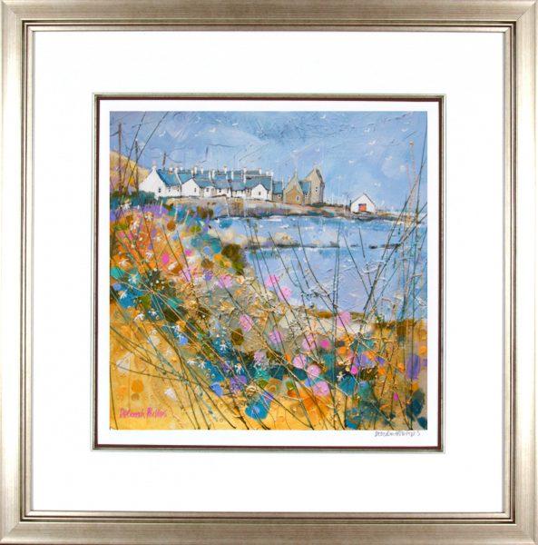 Deborah Phillips_Wheeling Gulls Over Sandend_25x25_Framed Print