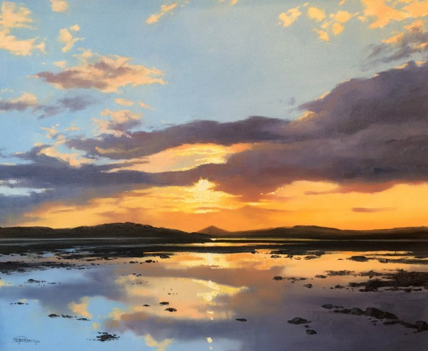 George Noakes_Sunset River Tay II_Oils_20x24