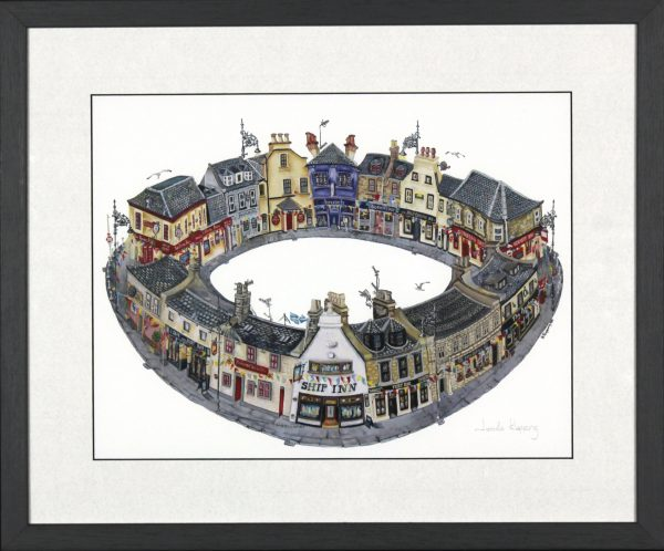 Nicola Kleppang_Broughty Ferry Pubs, Your Round_Framed