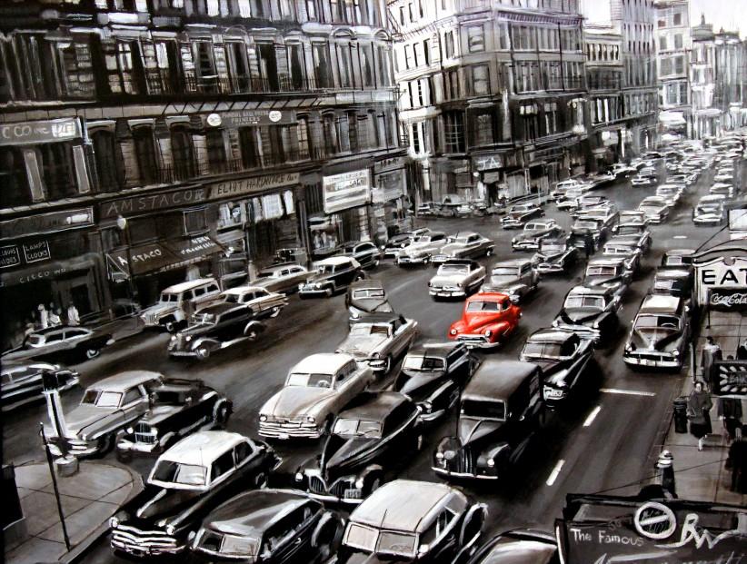 Ben Wainwright_New York Rush Hour_Oils_28x22