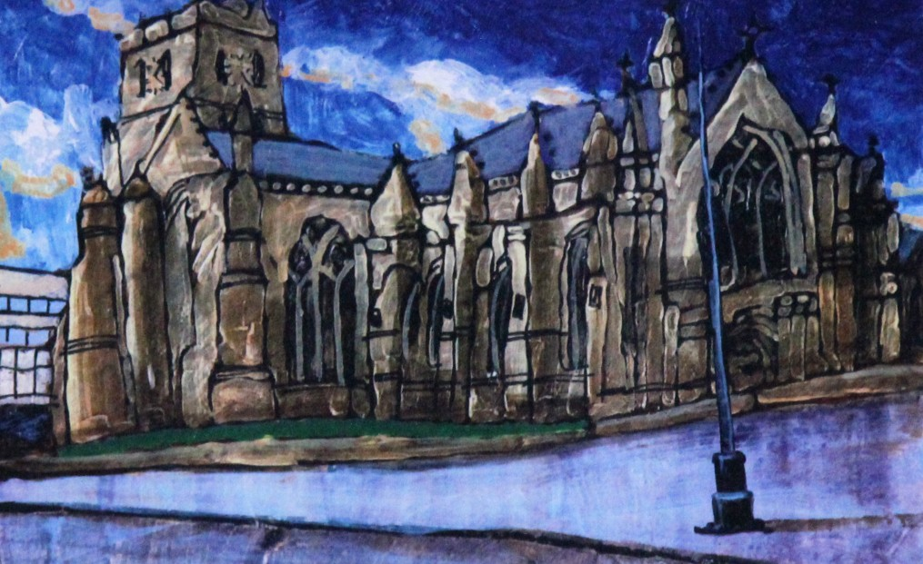 Stephen French_City Churches, Dundee_Signed Limited Edition_5.5x8