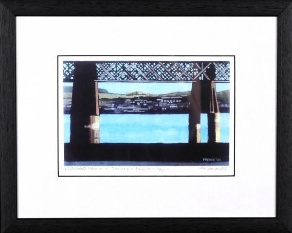 Stephen French_Wormit throughTay Bridge_10.5x13_Framed Print