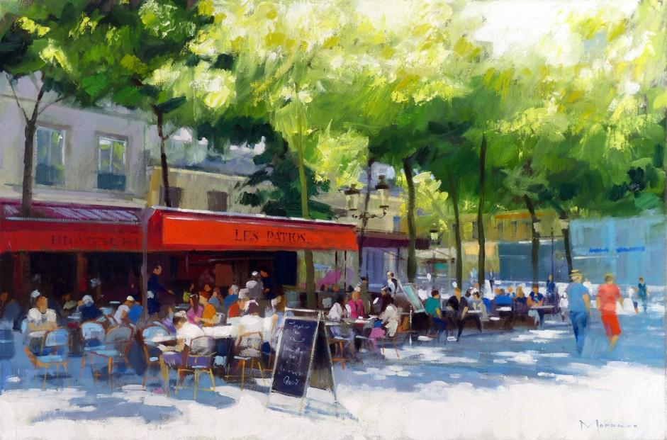 17.Place de la Sorbonne, Paris_Oil on Canvas_20x30