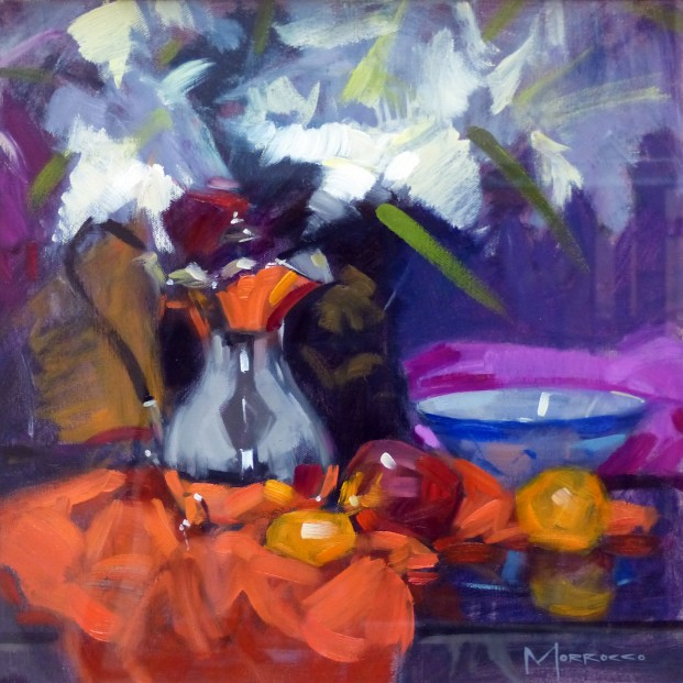 31.Silver Pot and Chinese Bowl_Oil on Canvas_16x16