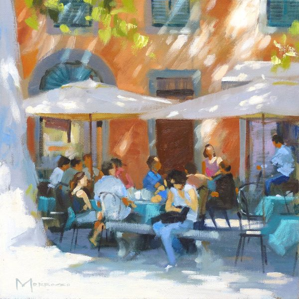 39. Shaded Cafe, Luca (study)_Oil on Canvas_12x12