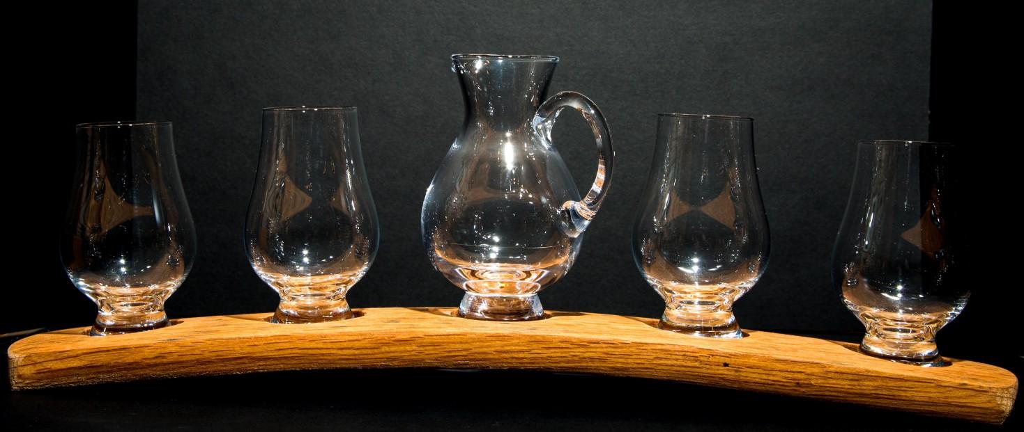 Darach whisky set_4 Glasses & Jug