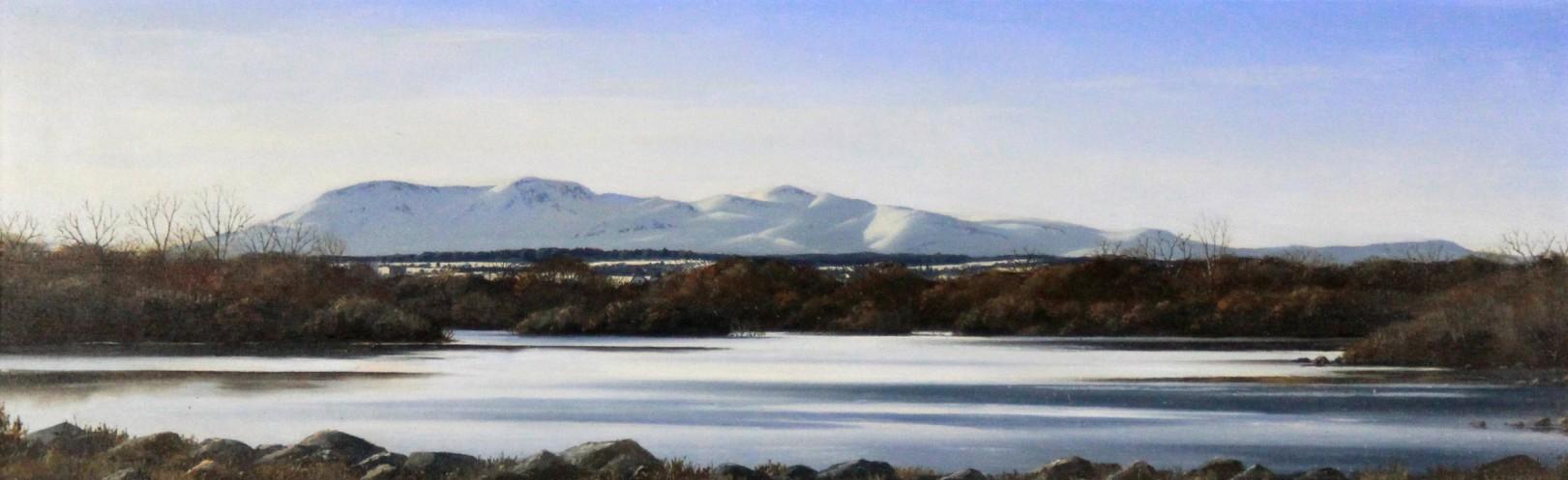 Ian Johnstone_The Pentlands from Duddingston Loch_Oils_6x18