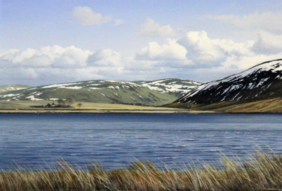 Ian Johnstone_Threipmuir, Pentlands_Oils_7x10