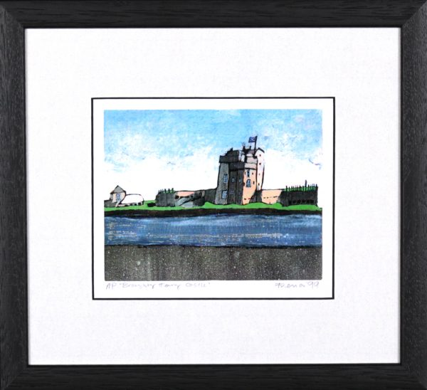 Stephen French_Broughty Ferry Castle_10.5x 11.5_Framed Print