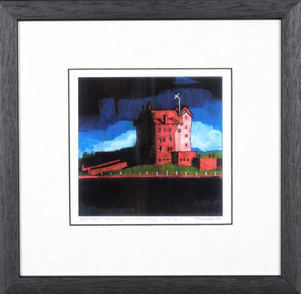 Stephen French_Broughty Ferry Castle_10.5x10.5_Framed Print