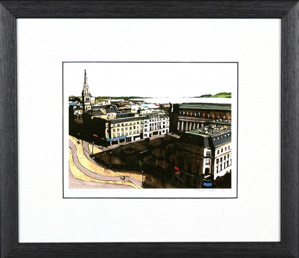 Stephen French_Dundee City Square_10x10_Framed Print