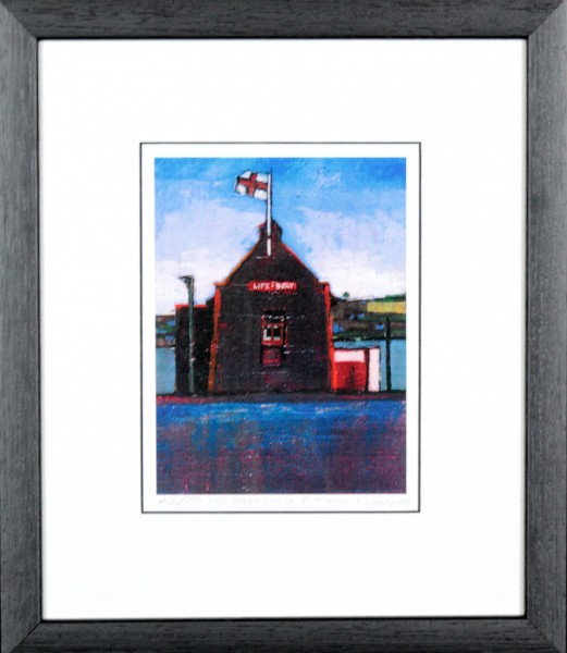 Stephen French_Life Boat House_11.5x10_Framed Print
