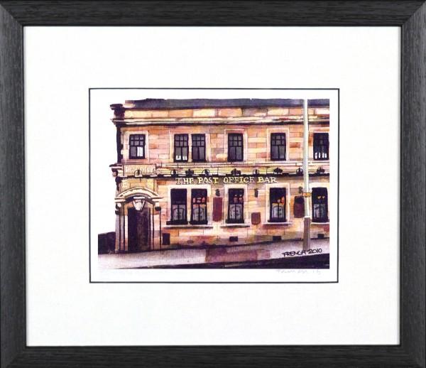 Stephen French_Post Office Bar_10x11.5_Framed Print