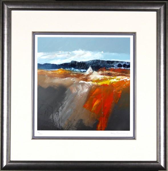 Dugald Findlay_Peat Bog & Bracken_22x21_Framed Print